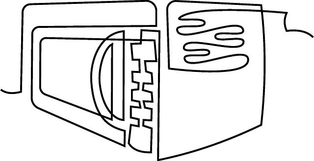電子レンジのイラスト