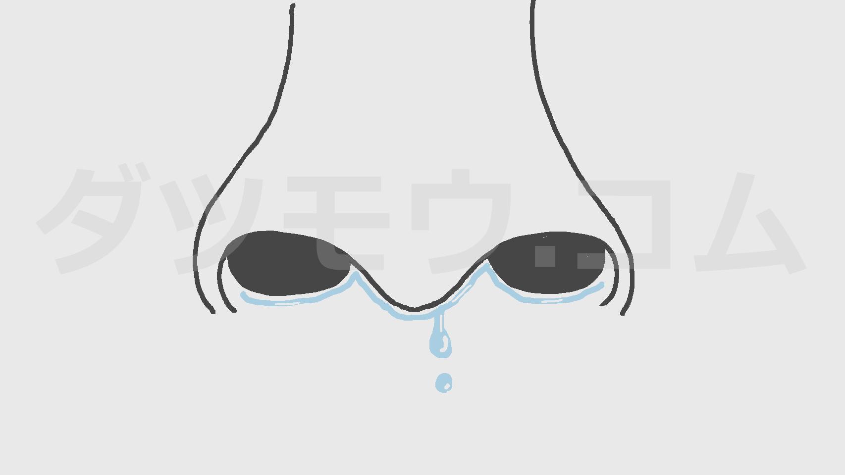 鼻水が垂れた鼻