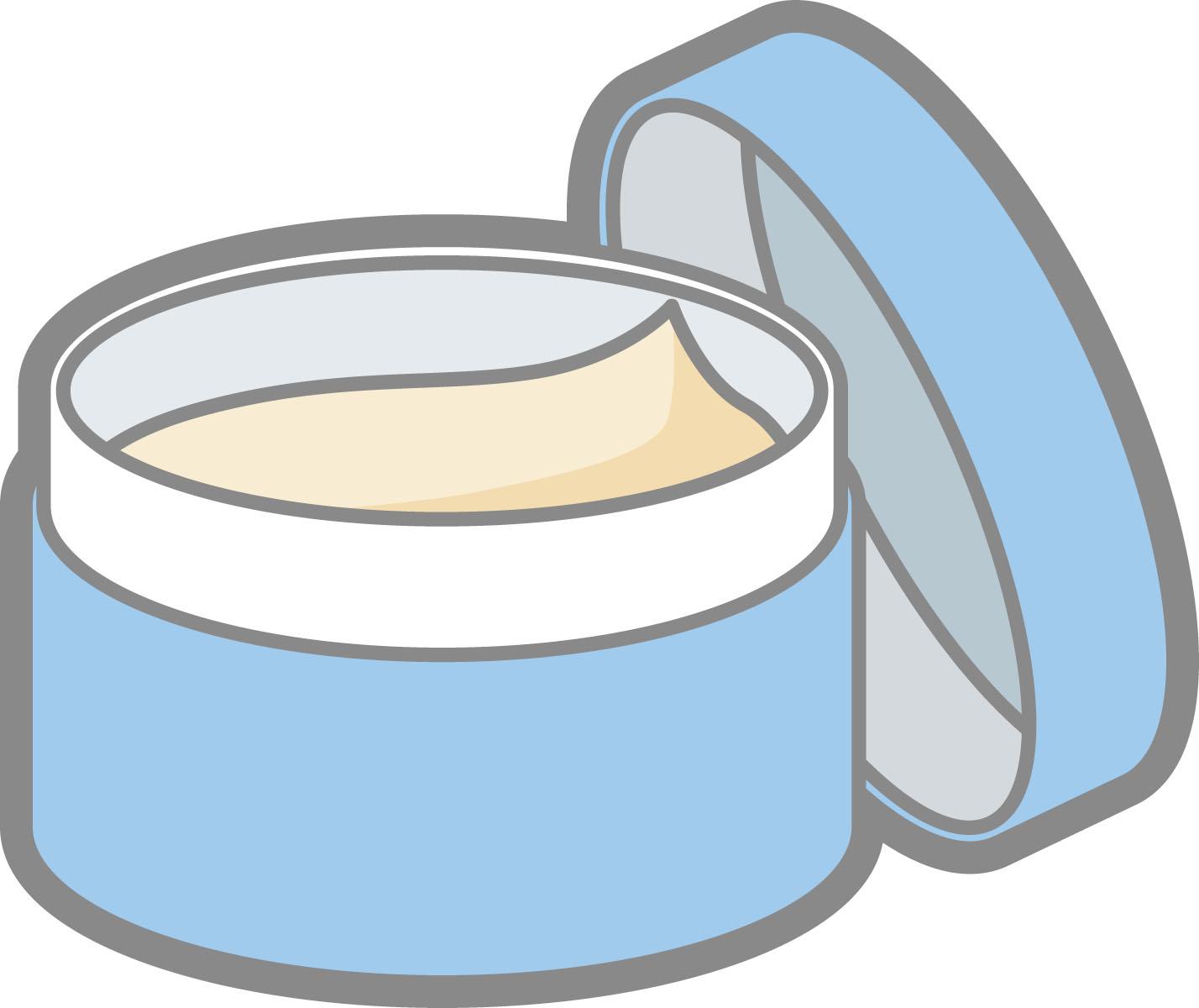 青い容器に入ったクリーム