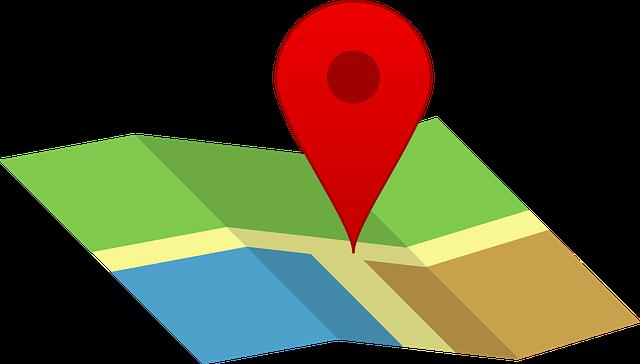 赤い印のマップ