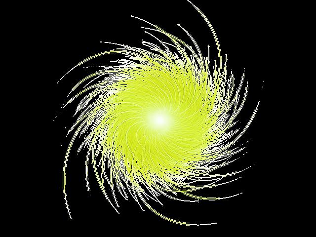 黄色い丸い電気