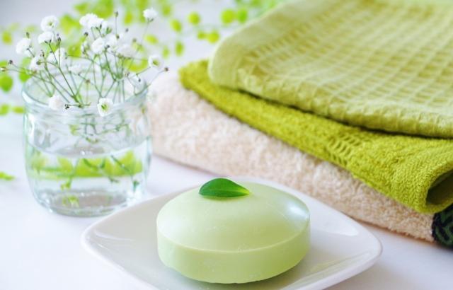 緑色の石鹸