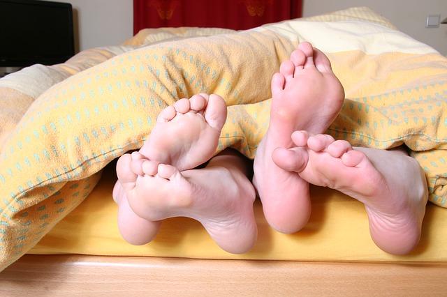 二人の足裏