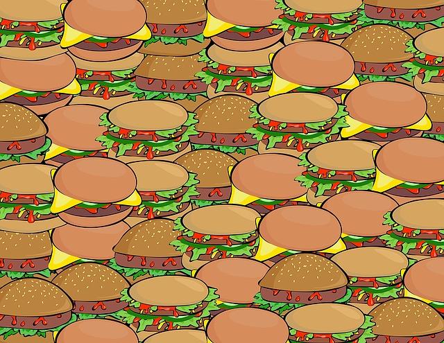 沢山のハンバーガー