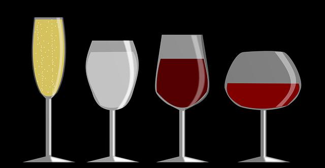 四種類のワイングラス