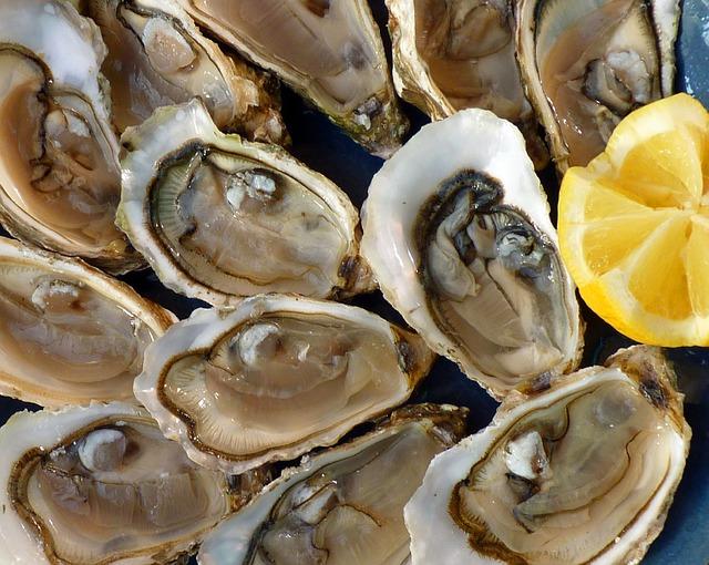 十二個の牡蠣とレモン