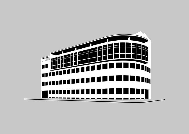白黒の建物