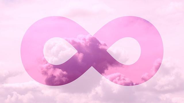 ピンク色の無限マーク