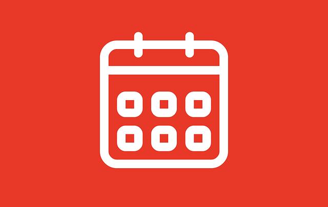 赤いカレンダー