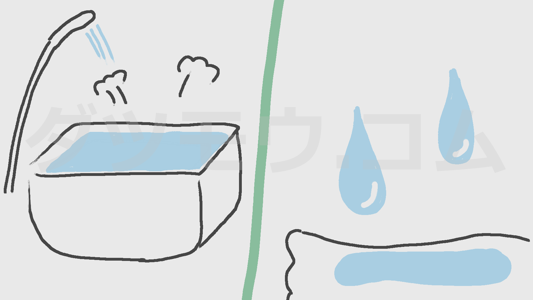 お風呂とシャワーと水分をとる