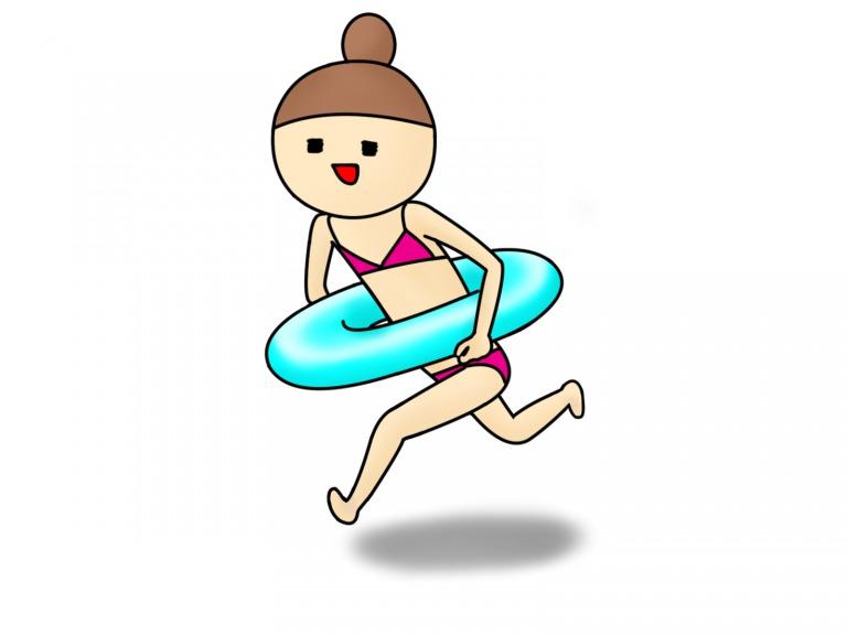浮き輪と水着