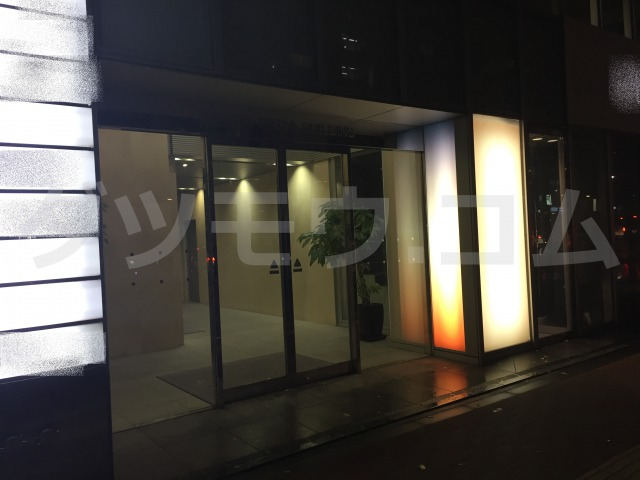ゴリラクリニック銀座院ビルの入口