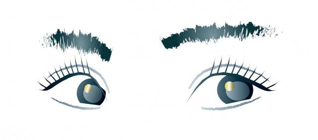 眉毛と目のイラスト
