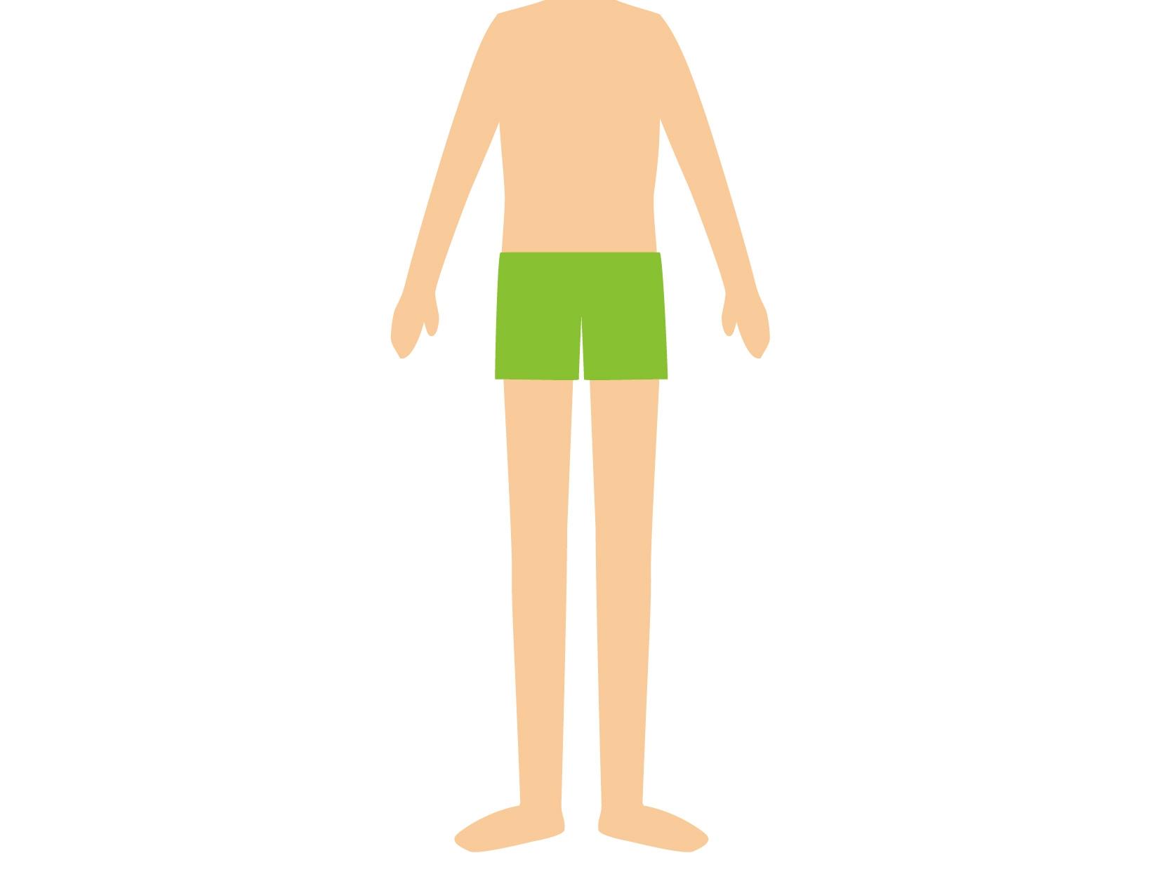 男性の体ドアップ
