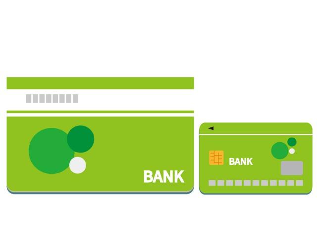 緑色のキャッシュカードと通帳