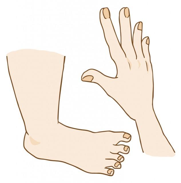 右手と右足