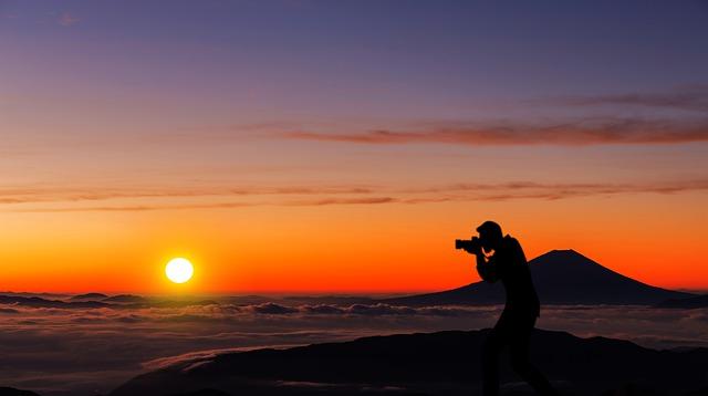 太陽とカメラ