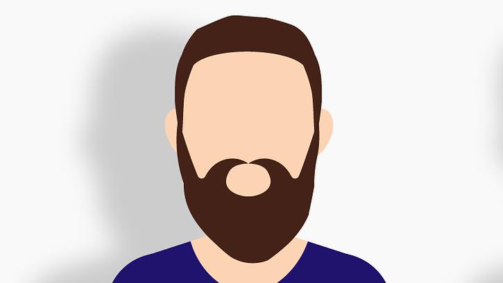 男性の長い髭