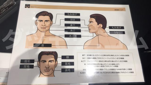 ゴリラクリニックの顔照射資料