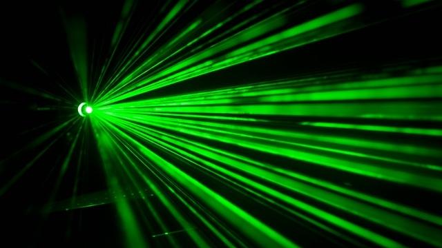 緑色のレーザー
