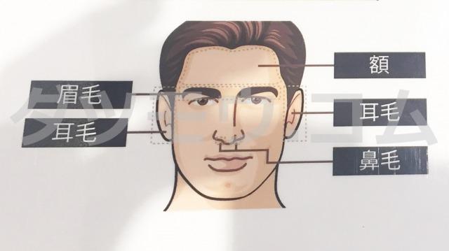 男性の顔のドアップ