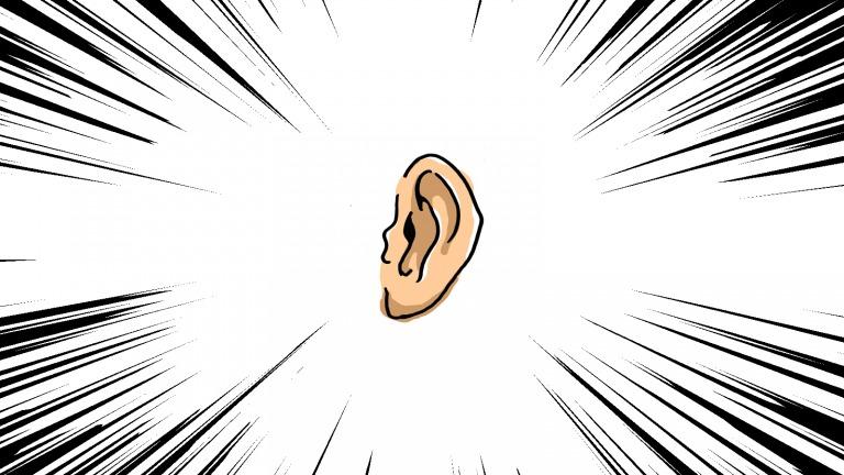 絵で描かれた耳
