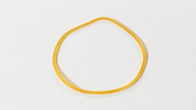 丸い輪ゴム