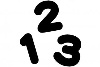 黒い123の数字