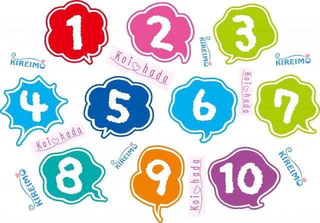 数字とキレイモと恋肌のロゴ