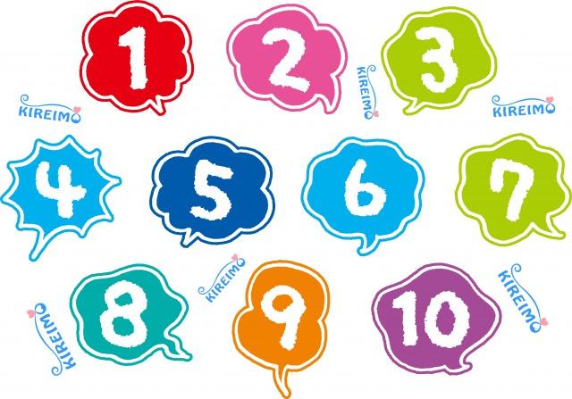 沢山の数字とキレイモのロゴ