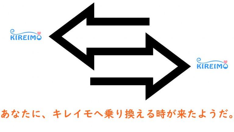 両サイドに向く矢印