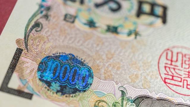紙幣の拡大写真