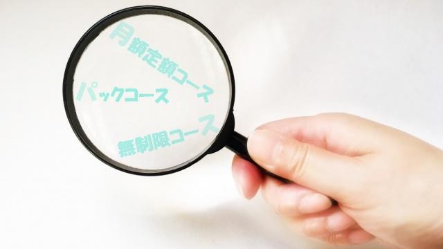 虫眼鏡と文字