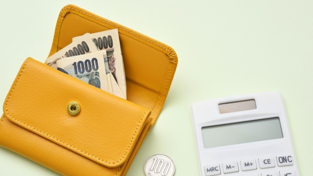 財布と計算機
