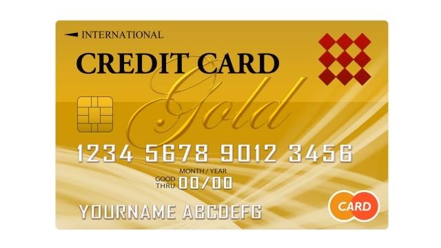 金色のクレジットカード