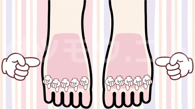 足の甲と指を指さす