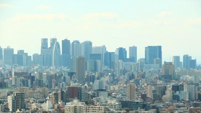 新宿に建つビル群