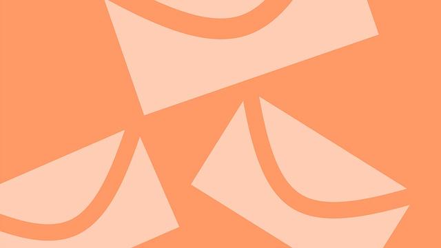 オレンジ色のメール