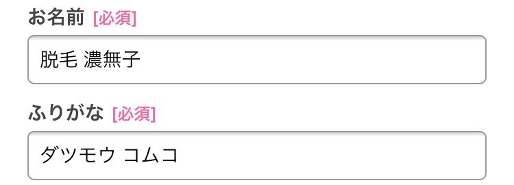 ストラッシュの名前記入