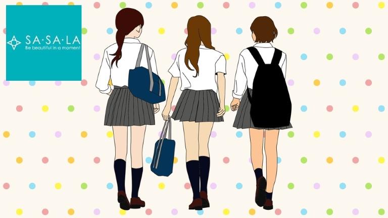 ササラのロゴと女性3人