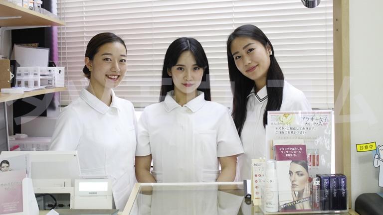 glowクリニックの3人の女性スタッフ